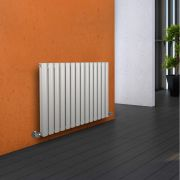 Milano Aruba - Luxury White Horizontal Designer Double Radiator 635mm x 834mm