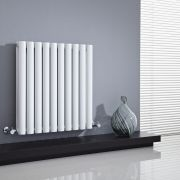 Milano Aruba - White Horizontal Designer Radiator 635mm x 595mm (Double Panel)