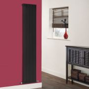 Milano Cayos - Black Vertical Designer Radiator - 1780mm x 342mm