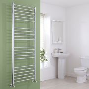 Milano Eco - Chrome Flat Heated Towel Rail - 1600mm x 600mm