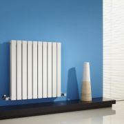 Milano Capri - White Horizontal Flat Panel Designer Radiator - 635mm x 600mm (Double Panel)