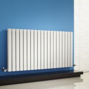 Milano Capri - White Flat Panel Horizontal Designer Radiator - 635mm x 1180mm (Double Panel)