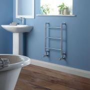 Milano Derwent - Minimalist Brass Heated Towel Rail 600mm x 500mm