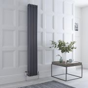 Milano Windsor - Anthracite Traditional Vertical Column Radiator - 1800mm x 293mm (Triple Column)