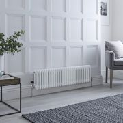 Milano Windsor - White Traditional Horizontal Column Radiator - 300mm x 1193mm (Triple Column)