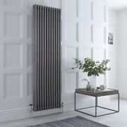 Milano Windsor - Lacquered Raw Metal Traditional Vertical Column Radiator - 1800mm x 563mm (Triple Column)