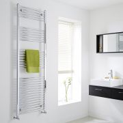 Milano Flat Chrome Heated Towel Rail 1800mm x 600mm