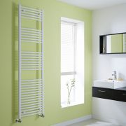 Milano Calder - Curved White Heated Towel Rail - 1800mm x 500mm