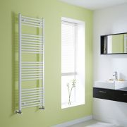 Milano Calder - White Flat Heated Towel Rail - 1500mm x 500mm