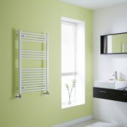 Milano Calder - Flat White Heated Towel Rail - 1000mm x 600mm