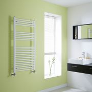 Milano Flat White Heated Towel Rail 1200mm x 600mm