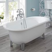Milano Mellor - 1750 x 790mm Contemporary Freestanding Bath with Choice of Feet