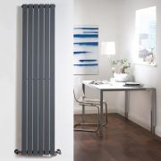 Milano Capri - Anthracite Vertical Flat Panel Designer Radiator 1780mm x 354mm