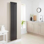 Milano Aruba - Luxury High Gloss Black Vertical Designer Radiator 1780mm x 354mm