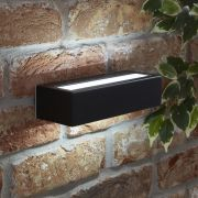 Biard Ternay IP44 LED Outdoor Wall Light - Black