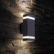 Biard Architect IP54 Square Up/Down Outdoor Wall Light - Black