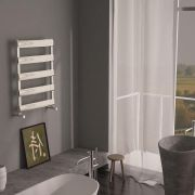 Milano Passo - Aluminium Designer Heated Towel Rail 790 x 500mm Brushed Chrome