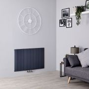 Milano Skye - Aluminium Anthracite Horizontal Designer Radiator - 600mm x 945mm
