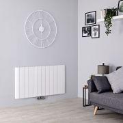 Milano Skye - Aluminium White Horizontal Designer Radiator - 600mm x 1135mm