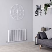 Milano Aruba Ayre - Aluminium White Horizontal Designer Radiator - 600mm x 1070mm (Double Panel)