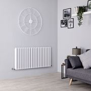 Milano Aruba Ayre - Aluminium White Horizontal Designer Radiator - 600mm x 1190mm (Double Panel)
