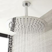 Milano - Modern Round Ceiling Mounted Shower Arm – Chrome