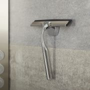Milano Portland - Modern Chrome Shower Squeegee with Wall Hook