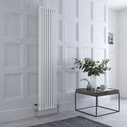 Milano Windsor - Traditional White Vertical Column Radiator - 1800mm x 383mm (Double Column)