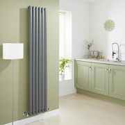 Milano Aruba - Luxury Anthracite Vertical Designer Radiator 1780mm x 354mm
