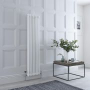 Milano Windsor - White Traditional Vertical Column Radiator - 1500mm x 380mm (Double Column)