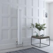 Milano Windsor - White Vertical Traditional Column Radiator - 1500mm x 200mm (Triple Column)
