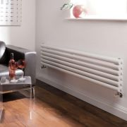 Milano Aruba - Luxury White Horizontal Designer Double Radiator 354mm x 1600mm
