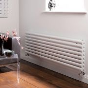 Milano Aruba - White Horizontal Designer Radiator - 472mm x 1600mm (Double Panel)