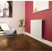 Milano Aruba - Luxury White Horizontal Designer Radiator 635mm x 834mm