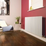 Milano Aruba - Luxury White Horizontal Designer Radiator 635mm x 1180mm