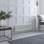 Milano Windsor - Traditional 22 x 2 Column Radiator Cast Iron Style White 300mm x 1000mm