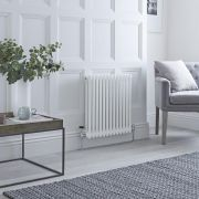Milano Windsor - White Traditional Horizontal Column Radiator - 600mm x 608mm (Double Column)