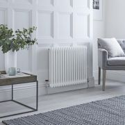 Milano Windsor - Traditional White Horizontal Column Radiator - 600mm x 788mm (Double Column)