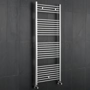 Kudox - Premium Chrome Flat Heated Bathroom Towel Radiator Rail 1500mm x 600mm