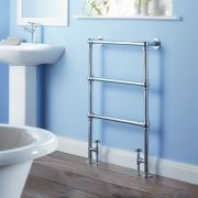 Milano Derwent - Traditional Brass Heated Bathroom Towel Radiator 930mm x 630mm