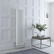 Milano Windsor - White Traditional Vertical Column Radiator - 1500mm x 380mm (Triple Column)