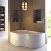 Milano - 1500mm x 1000mm Corner Bath and Panel - Left Hand
