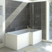 Milano 1700mm Square Shower Bath Right Hand