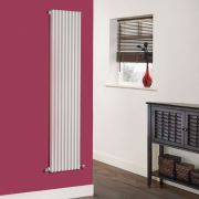 Milano Cayos - Luxury White Vertical Designer Radiator Sideways Panels 1600mm x 342mm