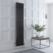 Milano Windsor - Black Traditional Vertical Column Radiator - 1800mm x 383mm (Triple Column)