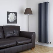 Milano Java - Anthracite Vertical Designer Radiator - 1600mm x 472mm
