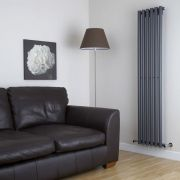 Milano Java - Anthracite Vertical Designer Radiator - 1780mm x 354mm