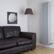Milano Java - Silver Vertical Round Tube Designer Radiator 1780mm x 360mm