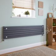 Milano Capri - Anthracite Flat Panel Horizontal Designer Radiator - 354mm x 1600mm