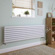 Milano Capri - White Horizontal Flat Panel Designer Radiator - 472mm x 1780mm (Double Panel)